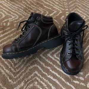 Dr Martens Vintage Mahogany Brown Ankle Boots
